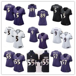 Wholesale 2016 hot sale women football Jerseys Baltimore Joe Flacco cheap nice Ravens jerseys elite authentic football shirt size S XL