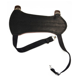 Wholesale Leather Deluxe Adjustable Strap Archery Target Armguard Youth Arm Guard