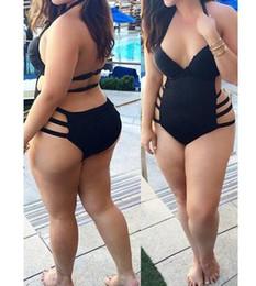 2016 Sexy Plus Size One Piece Swimsuit Swimwear for Women High Waist Push Up Padded Bathing Swim Suits Monokini Beachwear