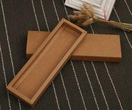 Latas de papel en venta-Venta directa de fábrica se pueden imprimir el logotipo de Kraft cajas de papel de embalaje cajón de caja rectangular envío libre 24.2 * 7 * 2.2cm