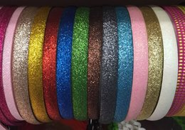 Wholesale 12mm Wide Brillant Fashion Headband Plastique Bande De Cheveux Bow Girls Alice Band Hairbands Vert