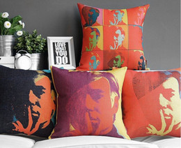 Wholesale Andy Warhol s art portrait POP ART pillow massager decorative pillows cover neck throw arts painting popular gift
