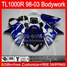 Wholesale Factory blue gifts For SUZUKI TL1000R TL R HM1 TL R TL R Fairing Blue white