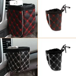 Wholesale Mini Nylon Car Grocery Bags Black Red Storage Pouch Glove Car Bags organizer with Cellphone Pocket