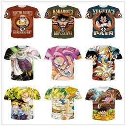Wholesale Dragon Ball style Z Vegeta Resurrection F Armour cartoon D printed short T shirts men tees M XL MT15