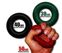 Descuento ejercitador de agarre Wholesale-3pcs / lot del músculo del deporte Poder Formación del anillo de goma Exercizer expansor del agarrador 30 kg 40 kg 50 kg 7cm fuerza de los dedos para Manos Grip