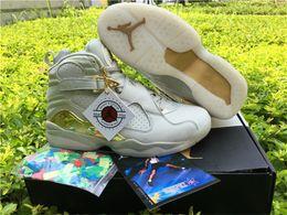 Wholesale Air Jordan Retro C C Champagne Jordans Men Baskeball Shoes White Gold Original Quality Sports Sneakers With Box US