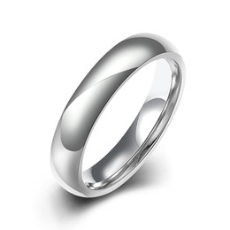 Wholesale Manufacturers selling high quality Fashion simple smooth titanium steel ring Men's and women's charms ring