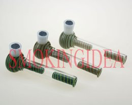 Wholesale New wholes glass bubbler hand pipe with health stone best use for oil rig water pipe flavor disk smoking screen