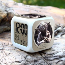 Wholesale New Star Wars Master Yoda Creative Led Alarm Clock Digital Clock Desk Alarm Clock Calendar Snooze Alarm Clock