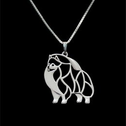 Pomeranian jewelry Silver Gold Plated pendant & necklace This del Necklaces & Pendants For Women Casual Jewelry Charms Dog Necklace