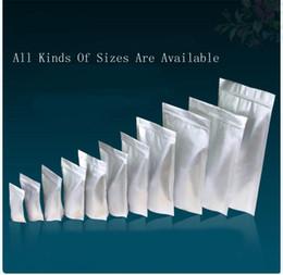 Bolsas de embalaje reutilizables en Línea-Papel de aluminio / volver a sellar claras de la válvula de la cremallera de plástico empaquetado al por menor de embalaje bolsa de plástico Ziploc Bloqueo Bolsa bolsas Polybag