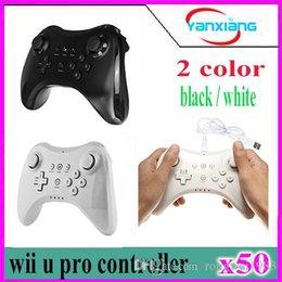 Controladores de xbox para la venta en venta-50pcs nuevo controlador negro alejado de Gamepad Joypad de la aleación de Bluetooth del negro de la venta caliente para Nintendo Wii U YX-WUII