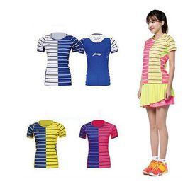 Men Women polyester Quick dry breathable absorbent Li-Ning Badminton shirts shorts set,Table tennis Jersey shorts Set,pingpang sets M-4XL