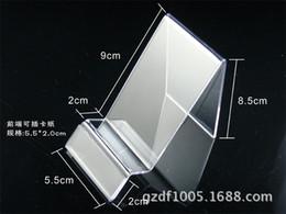 Latas de papel en Línea-SJ069 stent de acrílico transparente se puede insertar tarjeta de LOGOTIPO teléfono móvil precio de la marca de pantalla de papel de papel