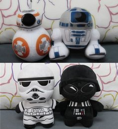 Wholesale 18cm Star Wars Plush Toys quot Darth Vader Cotton Stuffed Animals Doll Super Deformed Boba Robot Stormtrooper Soft Doll Children Boys Gifts
