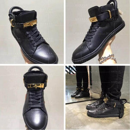 Wholesale Unisex Increased Wedges Men Boost Shoe Gold Lock Logo Ankle Boot High Top Shoe Women Leisure Sneakers Plus Size