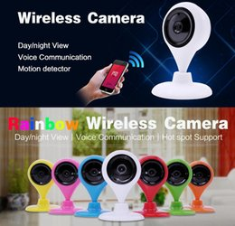 Wholesale 3 mm Wifi Wireless Security Camera P HD Remote Control Monitoring IP Camera for Home Guards Baby Droplets Color White