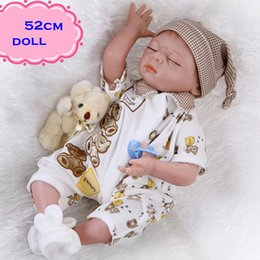 Hot Sale And Popular Sleeping NPK Silicone Reborn Baby Dolls About 52cm Lifelike Baby Dolls Newborn For Child Gift DIY Brinquedo