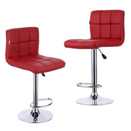 Wholesale IKAYAA Set of PU Leather Swivel Bar Stools Chairs Height Adjustable Pneumatic Heavy duty Counter Pub Chair Barstools US STOCK H16716