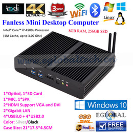 Wholesale Eglobal Fanless Mini PC Windows TV Box HTPC Intel Core I7 U G RAM G SSD Gigabit LAN HDMI WiFi Nettop Micro Computer PC