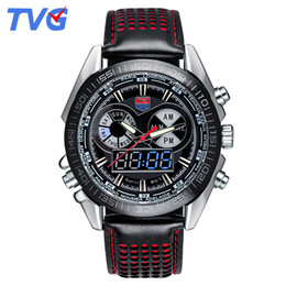 Hot Selling Brand TVG Men Full Steel Watches LED Digital Quartz Chronograph Watch Waterproof Dive Sports Military Watches