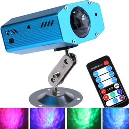 Wholesale Best Selling W Romantic RGB LED Water Ripples Light Stage Lamp Color Changing Laser Lights Projector With EU US Plug
