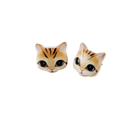 2016 New Fashion Animal express Cat Stud Earrings for participants in Party Gift, girlfriend, best Gift