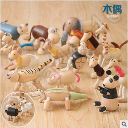 Wholesale 48pcs CCA4245 Brand New Maple Animal Australia Anamalz Organic Maple Wooden Animal Dolls Farm Educational Toys Wildlife Wood Animal Toys