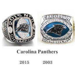 Wholesale Brand New Arrival Carolina and Panthers Americas Football Team Ring Rhodium Plated Championship Rings sports fans ring men ring