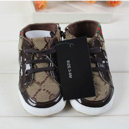 Wholesale Baby Shoes Branded Newborn Girl Boy Soft Sole Crib Toddler Shoes Canvas Sneaker Prewalker Sports Shoes Casual M