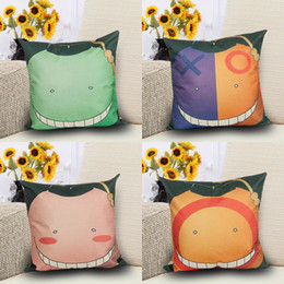XO Face Pattern Pillow cubre Cojines de almohada de dibujos animados lindo Smile Face Funda de almohada Home Decor Smile Face Cojines cubre 20pcs