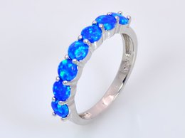 Wholesale & Retail Fashion Fine Pink Blue Fire Opal Rings 925 Silver Plated Jewelry For Women RMS1508001