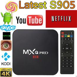Wholesale MXQ Pro Android TV Box Amlogic S905 Chipset Kodi Full Loaded Android Lollipop OS Quad Core G G K Google Streaming Media Players