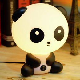 Wholesale Cute Panda Cartoon animal night light Kids Bed Desk Table Lamp Night Sleeping Led Night Lamp Gift Light