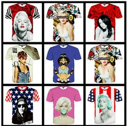 Wholesale 2016 village Handreds styles summer t shirts for men brand Naked sexy Girl with drinking d Printer t shirt camisetas rock hombre BY DHL