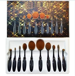 Wholesale Oval Foundation Brush Makeup Brushes Set Oval Makeup Brush Set Bendable Toothbrush Shaped Cosmetic Brushes Set