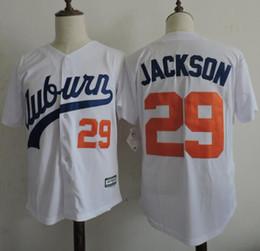 Wholesale Cheap Auburn Tigers Throwback VINTAGE Baseball jersey White Bo Jackson Auburn White Tigers University Flexbase Baseball Jerseys