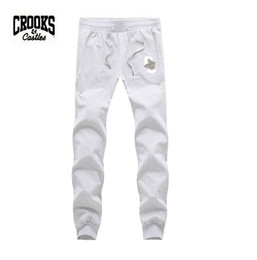free shipping s-5xl hip hop Crooks and Castles Outdoor sport Training Regular Trousers Male Casual Pants