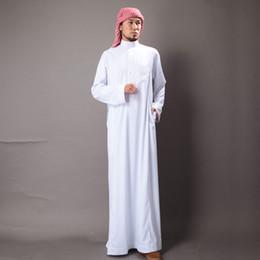 Wholesale Men s Kaftan Abaya Men Jubba Islamic Robes Jubba Thobe Clothing Islam Apparel Clothing Muslim Male Dress Islamic Men s Gowns