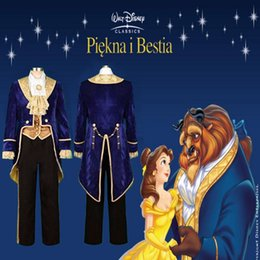 Wholesale Halloween Movie Beauty and the Beast Prince Tuxedo Cosplay Costume Custom Made Size S M L XL XL XL