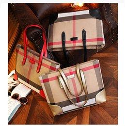 Wholesale Plaid Handbags Hot Sale Women Wave Canvas Shopping Bag Ladies Party Purse Clutches Furly Candy Shoulder Bags