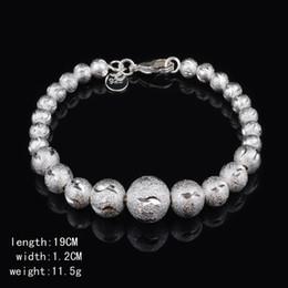 Wholesale 925 Silver Beaded Bracelet Car flower snake belly beads bracelet fashion silver jewelry bracelet Han Guofeng birthday gift