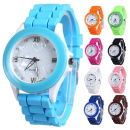 Casual Watch For Woman Round Dial Silicone Band Fashion Simple Style Analog Quartz Lady Dress Watch
