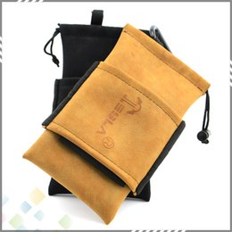 Wholesale Tesla Bag Carring Pouch Box Portable Leather Carrry Case Black Brown Tesla Handbag Pocket Vape Holder for Tesla E Cigarette DHL Free