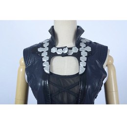 Womens Faux Leather Cosplay Show Halloween Party Costume