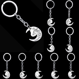 2016 All Family key ring moon heart alloy key chain mother key ring Father's Day best gift