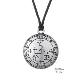 Wholesale Myshape Wiccan Jewelry Sigil of Archangel Samael Enochian Talisman Amulet Angel Charm Necklace Gift for Man Woman