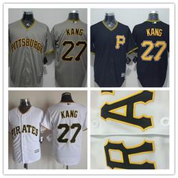 Wholesale Hot Sale Cheap Mens Pittsburgh Pirates Jung Ho Kang Baseball Jersey white black grey jersey Best Quality Size M XL