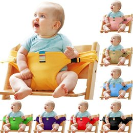 Wholesale Baby Chair Portable Infant Seat Product Dining Lunch Chair Seat Safety Belt Feeding High Chair Harness baby Feeding Chair